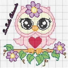 Dessin a broder pour bb images - Bing images Cross Stitch Geometric, Cross Stitch Owl, Cross Stitch Animals, Cross Stitch Designs, Cross Stitching, Cross Stitch Embroidery, Cross Stitch Patterns, Broderie Simple, Owl Quilts