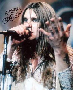 "soundsof71: "" Black Sabbath's Ozzy Osbourne, with suitably shaky autograph, via. """