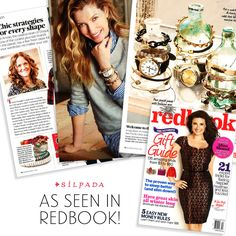 """@redbookmag features several of our favorite pieces in its December/January issue. Check out the feature story """"4 New Jewelry Formulas You'll Love!"""" and the """"Chic Strategies for Every Shape"""" article for the products!"""