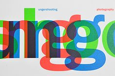 PAARPILOTEN / Corporate Identity for Ungershooting: The logo shows the name Ungershooting in the colour system RGB (red, green, blue) that is used for filming videos. The offset, overlapping typography symbolises movement. The business stationery was printed in bright colours. As an allusion to a film 'shoot' we added stickers with targets on them. The client loves using these stickers to seal envelopes.