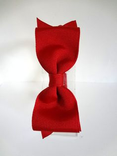 Red Bow Headband. Red Grosgrain Bow with by SweetAppleBoutique