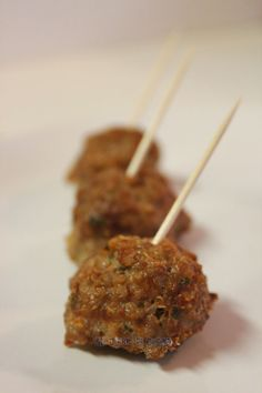 Mi Diario de Cocina | Bolitas de carne con quinoa | http://www.midiariodecocina.com