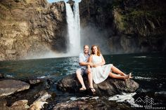 Snoqualmie Falls Engagement // Shellie & Paul » Tacoma Seattle Wedding Photographer, Rebecca Anne Photography.