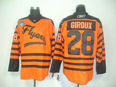 ba747fd24 Philadelphia Flyers 28 Claude GIROUX 2012 Winter Classic Orange Jersey. NHL  Hockey Jerseys