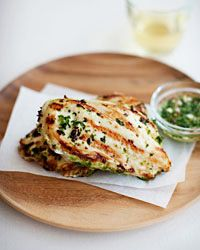 Thai Grilled Chicken with Cilantro Dipping Sauce Recipe on Food & Wine