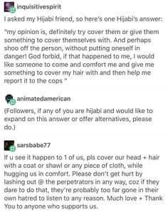 """Due to recent events, there will be incidents of ppl assaulting muslims. Here's how you can help a woman who's had her hijabi pulled off."""