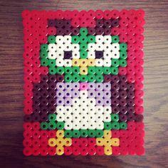 Owl hama beads by kalpana9