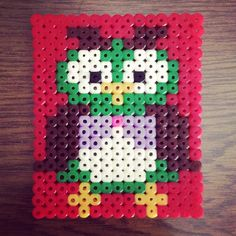 Owl hama beads by kalpana9