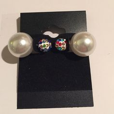 Double sided multicolor earrings Cute with any outfit!! Very pretty! NWT I have two pair of this color to sell! Jewelry Earrings