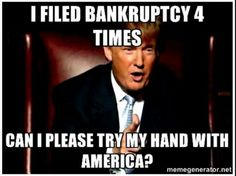 No, just no! Go home Donald! You're fired!