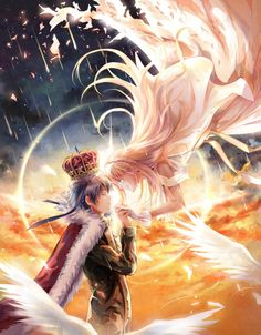 Soredemo Sekai wa Utsukushii (This World Is Still Beautiful) -- King Livius, the Sun King, is rumored to be cruel and ruthless! What's more, Princess Nike (who has the power to make it rain) has to be married to him in order to save her kingdom? Unbeknownst to her, King livius is actually just a teenager!