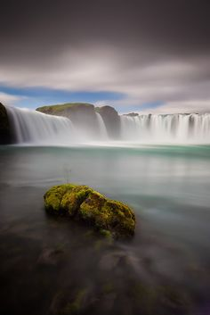 """Godafoss, Iceland """"Falls of the Gods"""" by Dylan & Marianne Toh."""
