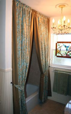 Custom Made To Order Solid Trim Edge Shower By MaribelClaribel 18500 Curtains