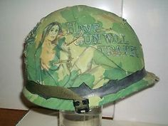 Vietnam Helmet Art | Details about vietnam war M1 tribute helmet US marines/ army