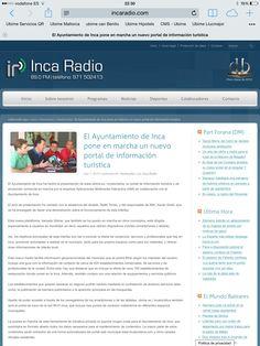 www.ubime.es/incaturistica en IncaRadio