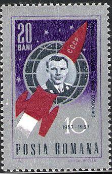 Yuri Gagarin stamp  Romania