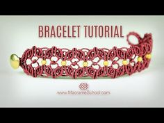 Floral Macramé Bracelet Tutorial in Vintage Style - YouTube