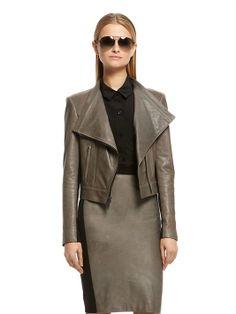 Lamb Leather Jacket - DKNY