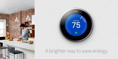 Programs itself. Control from anywhere. Automatically adjusting cooling to save energy. Nest Thermostat, Heating And Air Conditioning, Ways To Save, Save Energy, Brickell Miami, Key Biscayne, Cool Stuff