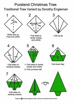 Christmas Origami Diagram 4 Pin Trailer Hitch Wiring 189 Best Images Crafts Card Design Is Taking Shape This Version 2 Of Tree That