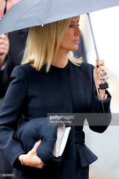 Crown Princess Marie-Chantal of Greece attends the funeral of John Spencer-Churchill, 11th Duke of Marlborough at the church of St Mary Magdalene on October 24, 2014 in Woodstock, England.