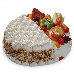 Send Butterscotch Fruit Cake Online with same day delivery in Ahmedabad from SendGifts Ahmedabad. Order Butterscotch Fruit Cake online and express your best feeling to your Special Person. Online Birthday Cake, Birthday Cake Delivery, Cool Birthday Cakes, Half Birthday, Buy Cake, Cake Shop, Fresh Fruit Cake, Fruit Cakes, Kiwi Cake