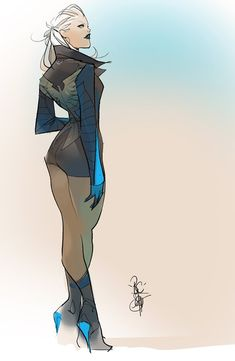 Black Canary by Otto Schmidt * Character Design Animation, Character Design References, Character Art, Character Concept, Character Sketches, Concept Art, Comic Book Artists, Comic Artist, Comic Books Art