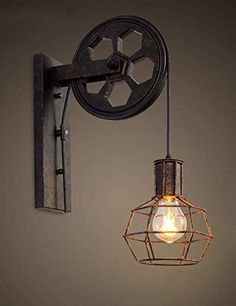 Space-saving lighting accents with wall lights Creative Retro Industrial Style Wall Lights Loft Style Lifting