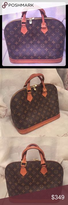 Authentic Louis Vuitton PM Alma Alma PM Louis Vuitton, good condition, good interior lining, no holes , smells, zipper in gods condition considering age. Monogram is really good condition and pretty, handles are intact and worn. No dust cover, no lock & key. Date Code BA1907. Authentic. Price to sell . Louis Vuitton Bags Satchels