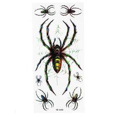 Spider Pattern Tattoo Insect Waterproof Temporary Tattoo Sticker
