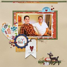 Page created by design team member Susan Stringfellow with the Scraptastic Club Free Fallin' kit