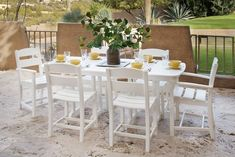 Ivy Terrace IVS1081WH Classics 7Piece Dining Set White * Want additional info? Click on the image. (This is an affiliate link) #PatioModernFurniture