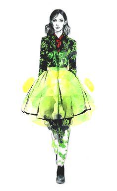 Diana Kuksa (Nesypova) on Behance Fashion Illustration Sketches, People Illustration, Fashion Design Sketches, Illustration Art, Fashion Artwork, Paper Fashion, Mode Editorials, Ralph Lauren, Kenzo