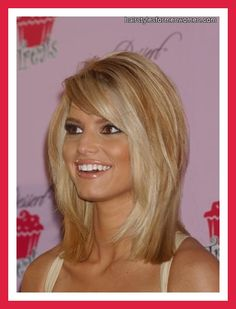 cute hairstyles for medium hair; color: even tho this is a little too blonde for me I like how the color is done.