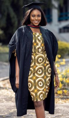 Yvonne Nelson recently graduated with a MASTERS DEGREE in International Relations and Diplomacy. She rocked this African print style dress on her graduation.