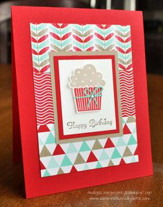 Pinterest Inspiration;Silhouette Cameo Tutorial for converting an MDS stamp brush image to a cut file; Stampin Up; Birthday Card; Card Creations by Beth