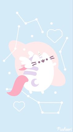 Iphone Wallpaper Cat, Simple Iphone Wallpaper, Cute Pastel Wallpaper, Cute Disney Wallpaper, Kawaii Wallpaper, Cute Animal Drawings Kawaii, Kawaii Art, Cute Drawings, Pusheen Love