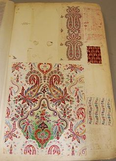 book of gouache designs and off-strikes dating from the 1860s KT 08