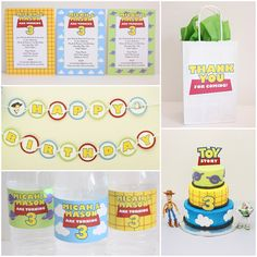 Buzz & Woody Toy Story Inspired Party Package by 5M Creations