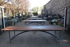 ipe and asteel garden tables made by the Branch Studio