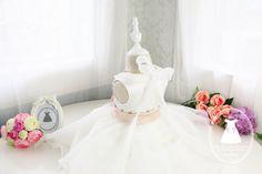 Vestido del desfile de bebé con cuello elegante diseño por PLdress