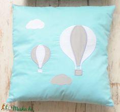 PÁRNA- hőlégballon applikációval (379.) (NoaNoa) - Meska.hu Throw Pillows, Bed, Toss Pillows, Cushions, Stream Bed, Decorative Pillows, Beds, Decor Pillows, Scatter Cushions