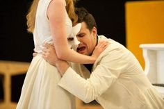 Ben Lewis and Anna O'Byrne rehearsing for love never dies awwwww