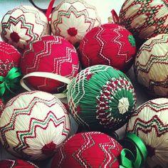 Photo of some vintage smocked balls                                                                                                                                                      More