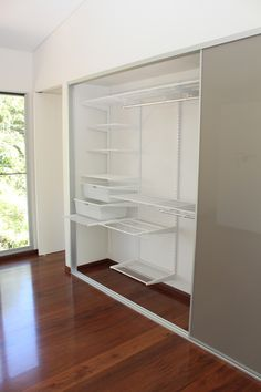 Stylite Champagne Sliding Doors with elfa shelving