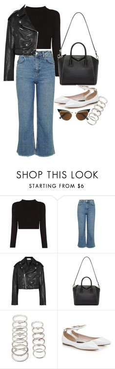 """Başlıksız #698"" by cattieson ❤ liked on Polyvore featuring Topshop, Faith Connexion, Givenchy, Forever 21 and Dsquared2"