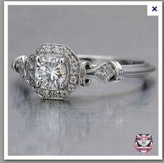 i love love love vintage wedding rings