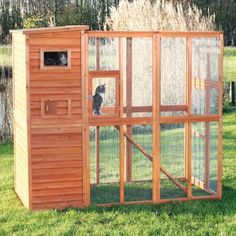 If I had room in my yard I would get this! Trixie Pet Products Outdoor Cat Run