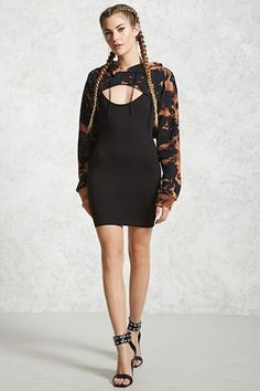 Cropped Hoodie Combo Dress - Women - New Arrivals - 2000109031 - Forever 21 Canada English