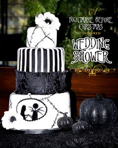 Another Tim Burton inspired wedding cake! Nightmare Before Christmas!
